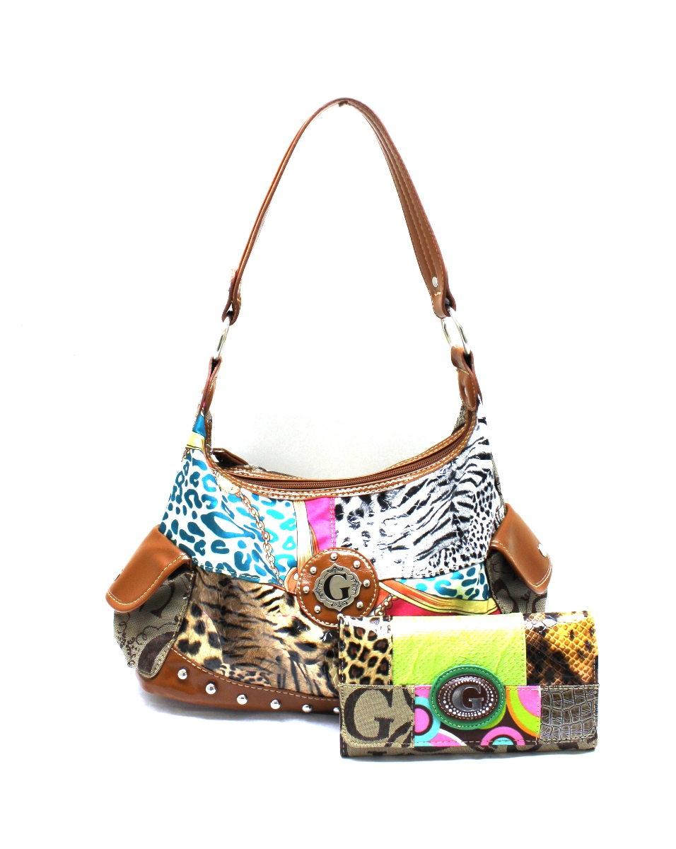 ... G1293KW200-GN MULTY G STYLE HANDBAG WITH WALLET SET - G Styl size 40  6b4ca ... 94beeb6efe