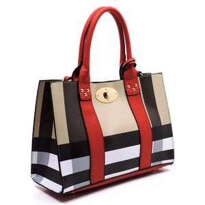 PLAID CHECK SHOULDER BAG 3 IN 1 BOX SATCHEL