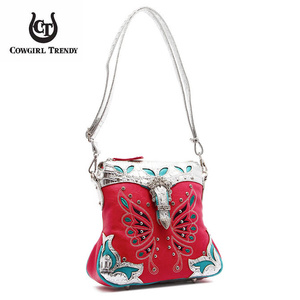 Western Butterfly  Buckle Crossbody Bag
