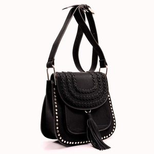 TASSEL SADDLE CROSSBODY BAG