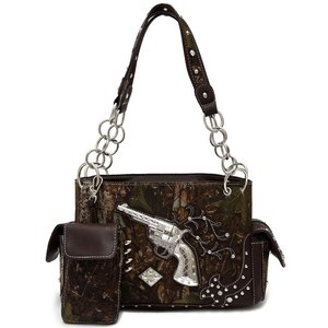 Leaves N Trees W/Gun & Bullets handbag