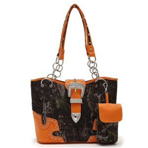 Western Leaves N Trees With Buckle Handbag