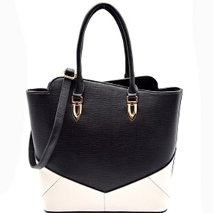TWO TONE TYPE TOTE BAG