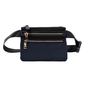 Nylon Multi Zip Waist Bag