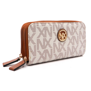 NX Signature Zip Around Clutch Wallet Wristlet