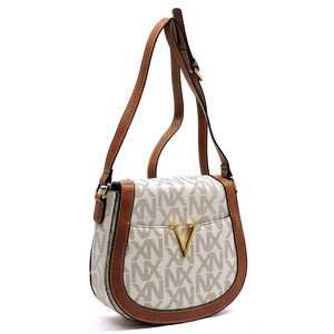 NX Signature V accent Saddle Crossbody Bag