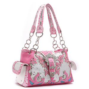 Western Sequin Butterfly Buckle Tote