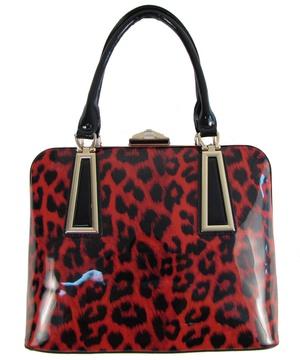 Fashion With Leopard Print Handbag
