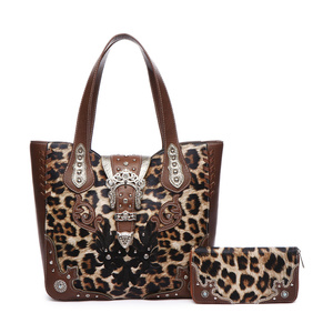 2d077acba0f4 Leopard Western Buckle 2-in-1 Tote