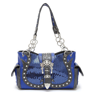 Western with sequine buckle handbag