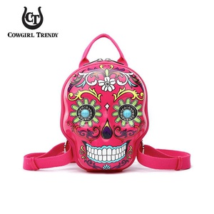 Black 3D Hardshell Box Sugar Skull Backpack