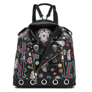 Motorcycle Skull Jacket Backpack