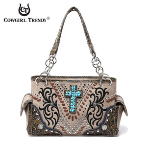 WESTERN STUDS CROSS HANDBAG