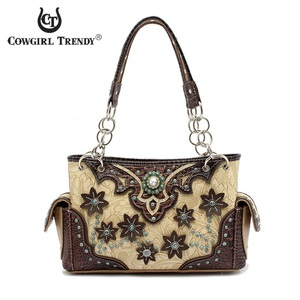 Western Concho Flower  Bag
