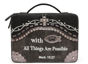 Mark 10:27' Western Bible Cover Case