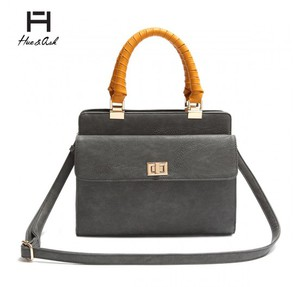 FASHION TWIST LOCK BOX SATCHEL