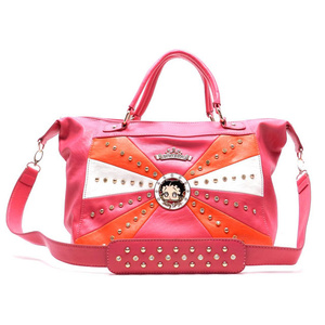 6e745a4a25a3 KF-1219 FUSHIA Wholesale BettyBoop Handbags